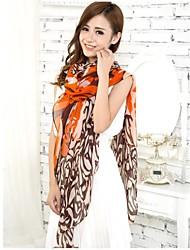 Women Orange Voile Scarves Bali Yarn Scarf Shawls