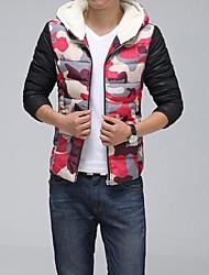nuova sabbiatura svago cappotto moda con cappuccio da uomo