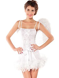 Innocent Angel Pure White Spandex Women's Halloween Costume