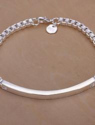 Bracelet Chaîne Argenté Unisexe