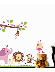 ZOOYOO® removable beautiful cute branch and animals wall sticker home decor wall stickers for kids/living room
