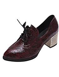zapatos de las mujeres Smandy dedo del pie acentuado oxfords de tacón grueso zapatos más colores disponibles