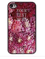 gepersonaliseerde gift bloeiende bloem ontwerp metalen behuizing voor de iPhone 4 / 4s