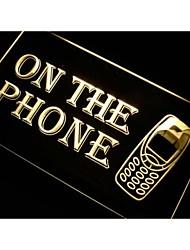m100 por teléfono signo luz de neón