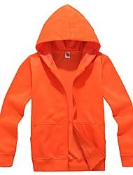 Men's Hooded Solid Zipper Front Outerwear