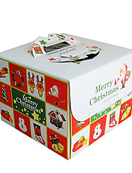 Portable Cuboid  Merry Chrismas Cake Favor Boxes
