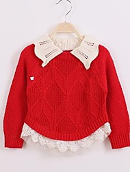Girl's Fashionable Joker Sweet Lapel Knitting Sweater