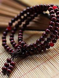 suofeiya de style chinois perles de bois de santal rouge bracelet_s5 couleur de l'écran