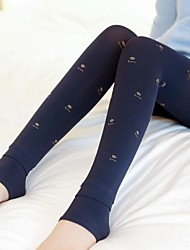 Women's Plus Velvet Jacquard Lips Pattern Hosiery for Winter