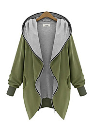 Z.Y.P Women's Western Thin Hooded Cardigan Coat