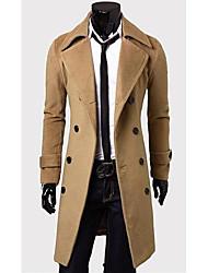 les seins double long manteau de Fengshang hommes
