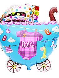 Pink Baby Carriage Aluminium Membrane Baby Shower Birthday Party Balloon(1 PCS)