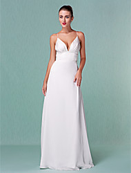 Lanting Bride® Sheath / Column Petite / Plus Sizes Wedding Dress - Chic & Modern / Elegant & Luxurious / Glamorous & DramaticVintage