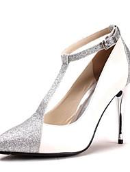 Women's Spring Summer Fall Glitter Wedding Stiletto Heel Blue Purple Red Silver Gold