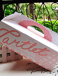 Portable Card Paper Pink Lace Cake Favor Boxes
