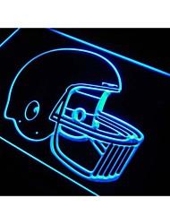 M043 fútbol casco signo luz de neón