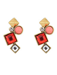 Lucky Star Women's Vintage Contrast Color Gemstone Earrings More Colors