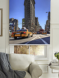 Sketchy New York Flatiron Building Roller Shade