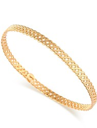 Women's Vintage Alloy Chain Fashion Minimalist Style Design 18K Gold Plated Bangles