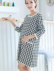lâche manches longues robe enceinte laine de femmes se mêle robe