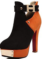 TACO Women's Splicing Contrsat Color Boots