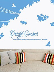 Wall Stickers Wall Decals,  Modern Bright garden PVC Wall Stickers