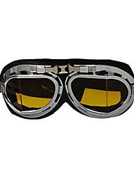 pliegue de marca gafas de seguridad moto scooter de moto casco gafas gafas de cristal amarillo