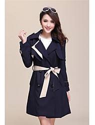 Women's Coats & Jackets , Polyester Casual Qieyuan