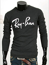 hiend Männer Blumendruck Rundhals-T-Shirt