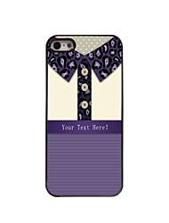 Personalized Gift leopard Print Shirt Design Metal Case for iPhone 5/5S