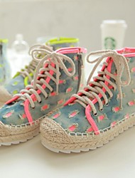 Women's Shoes Round Toe Flat Heel Denim Fashion Sneakers Shoes More Colors Available
