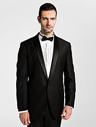 (Premium) Black Polyeter Tailored Fit Two-Piece Tuxedo