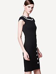 vestito bodycon manica elegantwomen'sshort