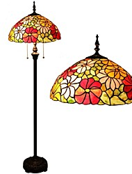 Sunflower Floor Lamp With Stained Glass