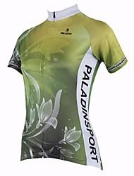 ILPALADINO Camisa para Ciclismo Mulheres Manga Curta Moto Respirável Secagem Rápida Resistente Raios Ultravioleta Blusas 100% Poliéster