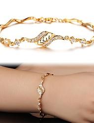 Beautiful 18 K Gold Plating Mosaic AAA Zircon Ms Gold Fine BraceletImitation Diamond Birthstone Christmas Gifts
