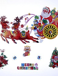 42*39cm Fancy Christmas Decoration Gharry Type Window Stickers