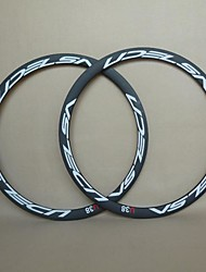 UDELSA 23mm Wide T700 Road Carbon Clincher Rims 38mm Bicycle Rims 700C(1 Pair)