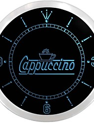 Cappuccino Coffee Neon Sign LED Wall Clock