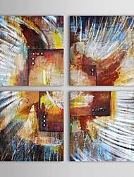 pittura a olio dipinta a mano astratta grande tela arte con set telaio allungato di 4