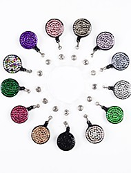 New Rhinstone Crystal  Bling Retractable ID Badge Reel
