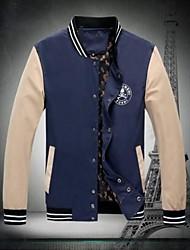 Men's Long Sleeve Jacket , Nylon/Polyester Casual Pure