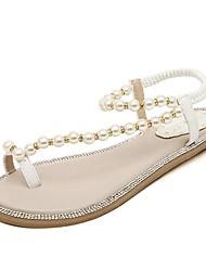 zapatos de las sandalias de los zapatos del anillo del dedo del pie talón plano de pelo de becerro de las mujeres más colores disponibles