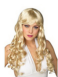 European Aristocracy Lady Long Curly Golden 55cm Women's Halloween Party Wig