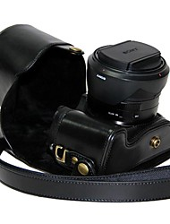 Dengpin® Leather Protective Camera Case Bag Cover with Shoulder Strap for Sony Cyber-shot DSC-RX10 RX10