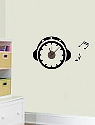 ZOOYOO® Electronic battery music timekeeper shape wall sticker home decor for you living room