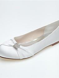 Dames Bruiloft Schoenen Ronde neus Platte schoenen Huwelijk/Casual/Feesten & Uitgaan Zwart/Blauw/Roze/Paars/Ivoor/Wit/Zilver