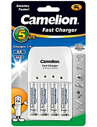 Camelion Super Fast Charger for AA/AAA Battery with 4 pcs AlwaysReady 900mAh Ni-MH AAA Rechargeable Batteries