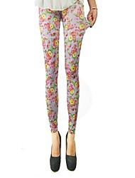 Women's Fashion Colorful Flowers Leggings