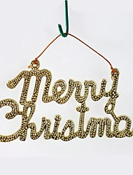 2 pcs Christmas Decorations Hanging Drop Hot Stamping Words Merry Christmas